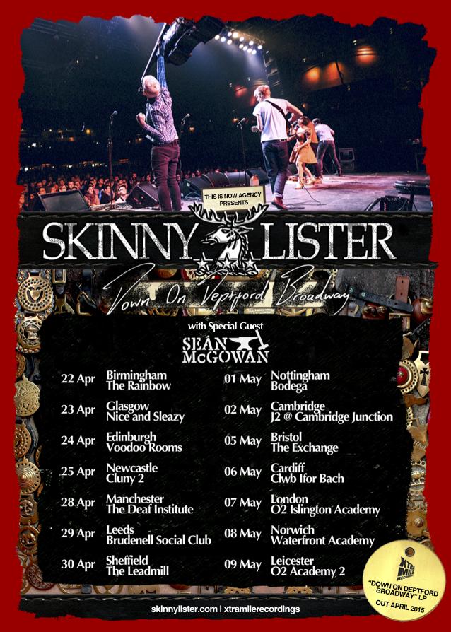 Skinny Lister – SPRING UK TOUR