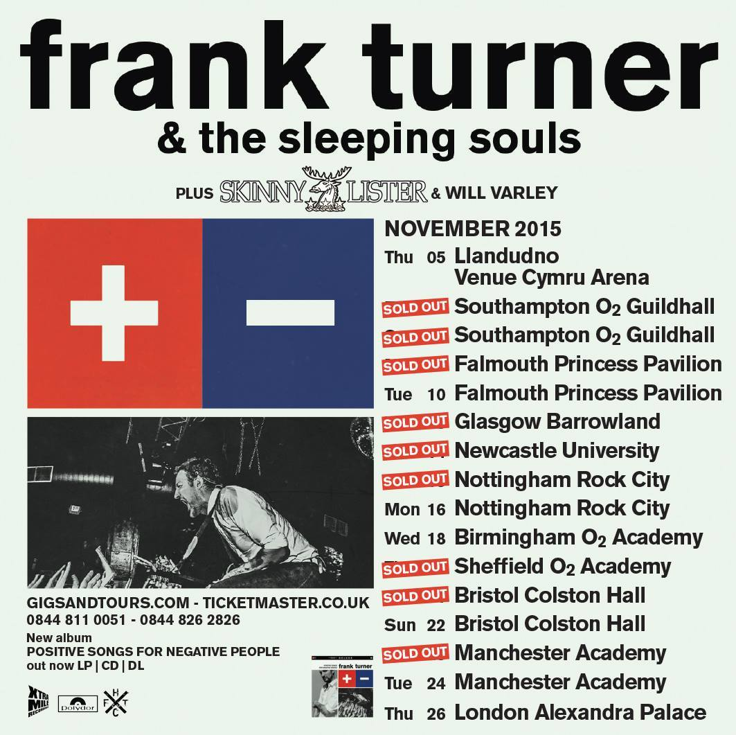 On the road with Frank Turner – USA & UK !!